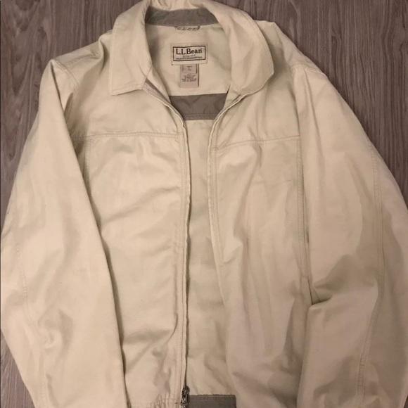 Other - VTG LL Bean Canvas Jacket Mens Large Tan
